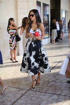 fancy full midi skirt