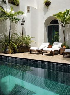 Beautiful tiles! Jet Set: Hotel Villa Bahia in Salvador, Brazil | La Dolce Vita