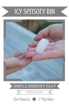 Simple Sensory Play | Icy Sensory Bin {Day 1 of 7}The what, the why and How of Simple Tactile Play. Fantastic Summer Sensory Play! #sensoryplay