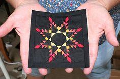 miniatures, quilti inspir, feather star, stars, star quilt, mini quilt, miniatur quilt, miniatur feather, quilt star