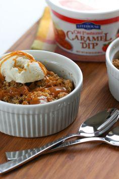 Caramel Apple Crisp | foodnfocus.com