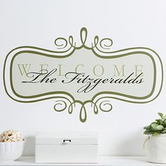 Welcome Personalized Wall Art Decal