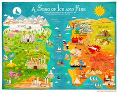 A Map of Ice and Fire (Game of Thrones) on Behance
