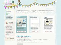 """birdthemes.com - """"Bird Themes make cozy, quirky and weathered WordPress themes for small businesses, individuals* and the soon-to-be married."""""""