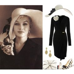 Kentucky Derby Marilyn Monroe Look by kentuckyfashion on Polyvore