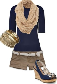 Too cute not to pin. Perfect summer outfit for those cooler nights.