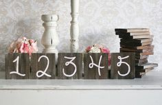 Rustic Table Numbers Barn Wood Wedding Decor Farm by braggingbags, $4.00
