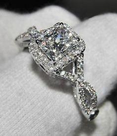 Ebay Diamond Engagement Rings Cushion Cut 7