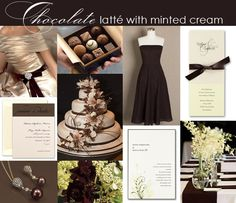 Brown and Mint Green Wedding