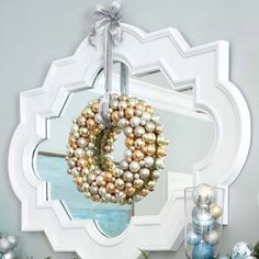 gold & silver wreath