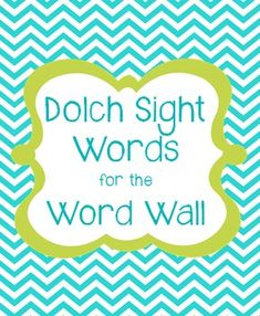 220 Dolch Sight Words. High frequency words kiddos must know by 3rd grade.