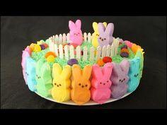 Rainbow Peeps Cake