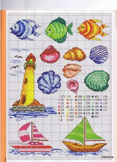 Gallery.ru / Фото #67 - RAKAM - KIM-2 nautic chartsmani, cross stitch sea, crossstitch, broderi, bordado, ponto cruz, fish cross stitch, cross stitch patterns, cross stitches
