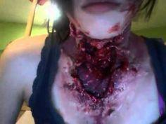 Sliced Neck Halloween Horror Makeup