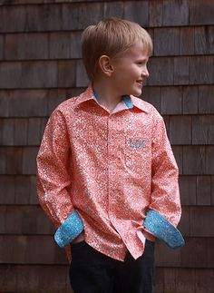 Sis Boom Ethan Boys's ButtonUp shirt PDF by scientificseamstress, $9.95
