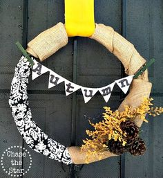 Make a Fall Wreath Out of Fabric Scraps