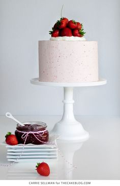 Strawberry Pie Cake | by Carrie Sellman for TheCakeBlog.com