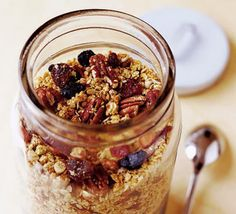 Bored of oats every morning. Going to try this crunchy granola with berries and cherries next month.