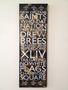 New Orleans Saints Fleur de lis by NoPlaceLikeNOLA on Etsy, $65.00