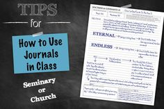 14 tips on how to use journals in seminary or church!