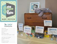 Baby Scattegories and Price is Right - DolledUpDesign