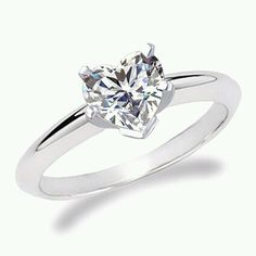 I think I love Heart Diamond rings! 1/2Ct would be perfect.