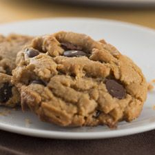 Flourless Peanut Butter Chocolate Chip Cookies – so easy, and gluten-free!