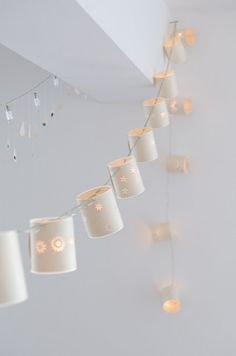 These look like a cool DIY with some white xmas lights