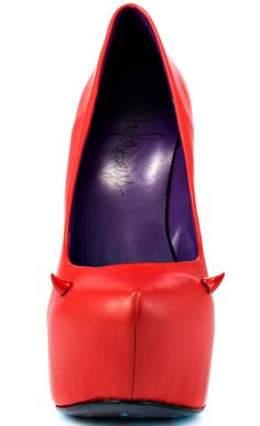 Taylor Says Women's Devilicious – Red (a favourite gothic punk shoes repin of VIP Fashion Australia )