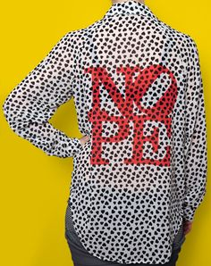NOPE Sheer Dress Shirt