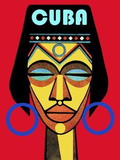 Cuba Travel Poster Afrocuban Yoruba Religion Office Travel Shop Decor 6i