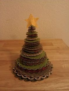 Christmas tree out of die cuts