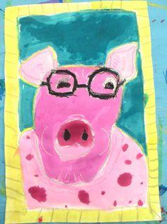 Small Hands Big Art Blog - pig portraits