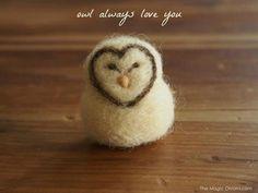 Easy Needle Felted Owl DIY Tutorial