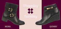 Hello, Shoesday Tuesday! Which black bootie fits your fall flair? Vote today for the Mona or Quimby and tomorrow, the winning pair will be 25% off!