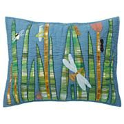 Blue Dragonfly Quilted Sham #outdoor decor 2013 use seahorses.