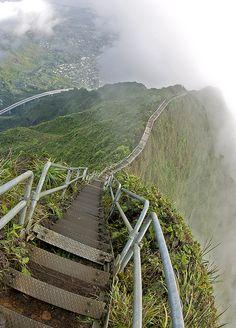 Stairway to Heaven,Hawaii,USA: