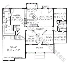 02208 Garden Crest House Plan, 1st Floor Plan, Small House Plans, Ranch Style House Plans, Wheelchair Accessible House Plans