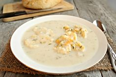 Hungry Couple: Cream of Chicken Soup with Cheddar & Herb Dumplings (you could also add some Chicken to this, if desired!)