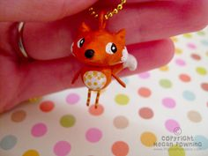 Mini Charm  Foxy  Mini Paperclay Sculpture  by PigAndPumpkin
