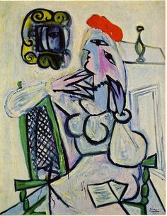 Woman with red hat - Pablo Picasso picasso woman, famous paint, red hats, book, picasso famous, pablo picasso