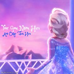 Get your name in beautiful style on cute elsa frozen picture you can