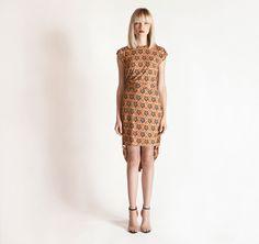 pouf dress, print pouf