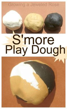 Make your own s'more play dough with just one ingredient! - smells just like s'more's