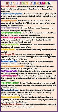 Teacher Phobias