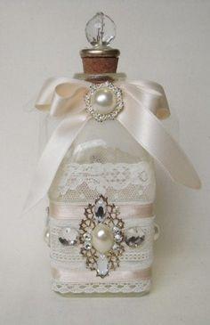 Botellas decoradas on pinterest - Decorar estilo shabby chic ...