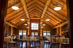 Buffalo Mountain Lodge, Wapiti Longhouse.  Design:www.cherrytreeoccasions.com, photo: www.orangegirlphotographs.com