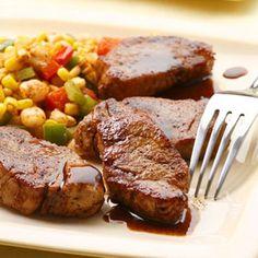 Maple Chili Glazed Pork Medallions Recipe - Diabetic Recipes - Delish.com