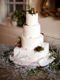 #Winter #wedding #cake