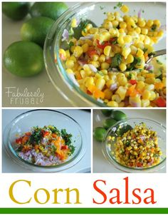 Corn & Sweet Mini Peppers Salsa Recipe from FabuLESSly Frugal